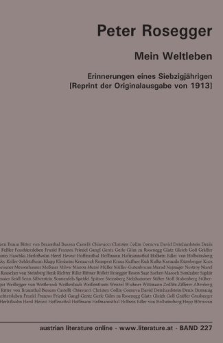 Mein Weltleben: Erinnerungen eines Siebzigjährigen [Reprint der Originalausgabe von 1913]