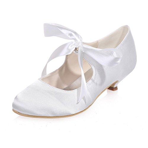 L@YC Scarpe Da Sposa Delle Donne Primavera autunno Primavera / Tacchi alti / Matrimoni Di Sera E Basso In Raso Satinato Multicolore White