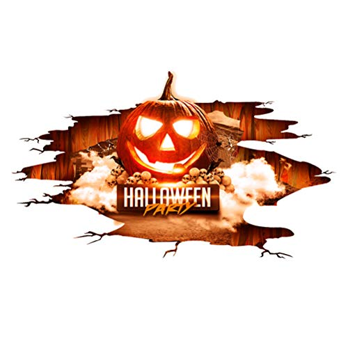 BESTOYARD 3D Boden Aufkleber Halloween Wandaufkleber Fenster Wall Art Decal Aufkleber Dekoration 30x90cm