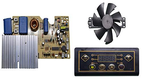 """Nktronics 2200 Watt Induction Board igbt Type with 18 Volt 110 mm 4.5"""" inch Frameless Fan (Black)"""