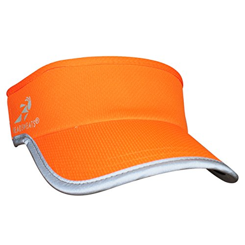 Headsweats Reflective Supervisor High Visibility Schirmband Visor, Neon Orange, One Size