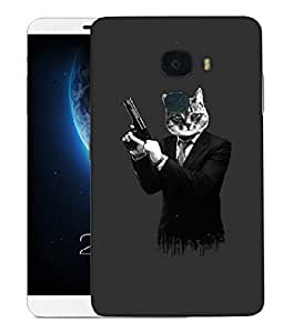 Snoogg Hit Cat Designer Protective Back Case Cover For LETV LE MAX 2