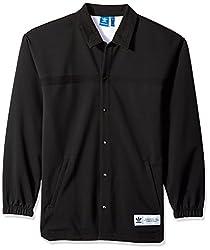 adidas Originals Mens Cr8 Coach Jacket, Black, XL