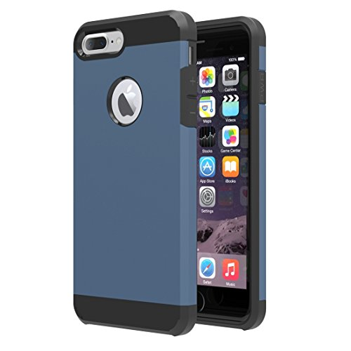 Für iPhone 7 Plus Trennbares Corselet TPU + PC Kombi-Gehäuse, Kleine Menge Empfohlen vor iPhone 7 Plus Starten DEXING ( Color : White ) Dark Blue