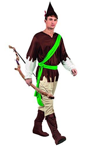 Boland 83812 - Robin Hood Costume Adulto, Marrone/Verde, M/L