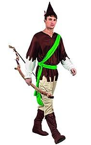 Boland 83812-Adultos Disfraz Forest Rebel, Color marrón