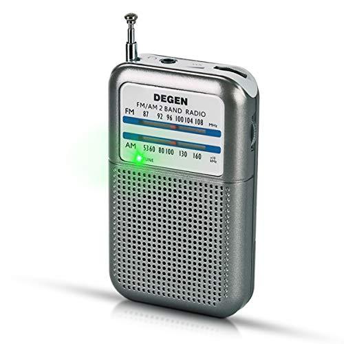 PRUNUS DEGEN-DE333 Transistor Radio de...