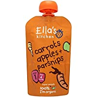 Ella's Kitchen Stage 1 From 4 Months Organic Carrot, Apple and Parsnip 120 g (Pack of 7)
