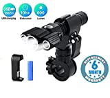 Voroly LED Tactical Flashlights 800 Lumens Electric Torch Ultra-Bright Handheld Travel Outdoor Flashlight