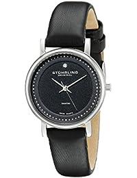 Stührling Original 734L.02 - Reloj analógico para mujer, correa de cuero, color negro