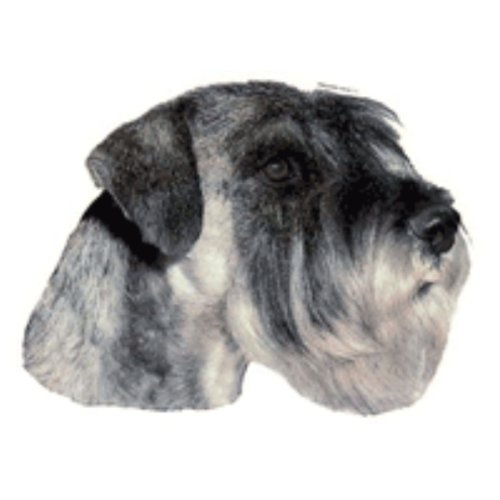 Schwandt-Heimtierbedarf World Stickers 13176 Sticker for Warning Sign 140 x 160 mm Pack of 2 Giant Schnauzer Grey