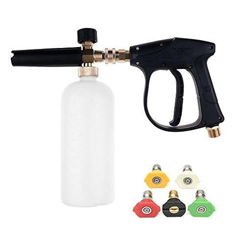 Pistolet à lave-glace à haute pression NUZAMAS avec 5 buse d