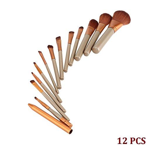 Cdet 12PCS Brosses de brosse Professionnel Teint Eyebrow Shadow Makeup Blush Kit Pinceau Ensemble brosse à maquillage Brosse à maquillage Maquillage Outils