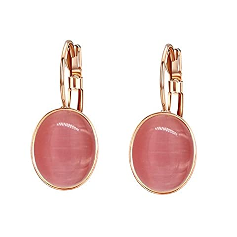 Yoursfs Vintage Shell Shaped Red Cherry Opal Drop Earrings for