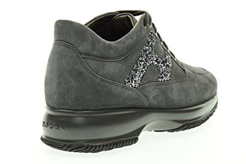 HOGAN donna sneakers basse HXW00N0S3609KEB800 INTERACTIVE LAVOR.H SPEZZATA Catrame