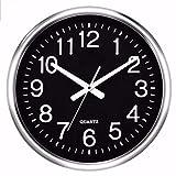 iJIAHOMIE Wandaufkleber groß Uhren Style Raum Home Dekorationen,RundeStille elektronische Quarzuhr, B