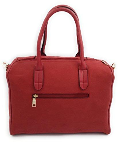 CONTRO VENTO - Borsa Bauletto Charlie 165, Borsa da donna, Borsa a spalla e a mano con tracolla Rosso