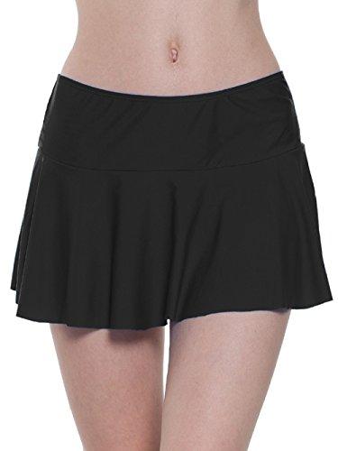 FLYILY Damen Sport Badeshorts Boyleg Board Shorts Strand Bikini Tankini Unterteile Badebekleidung Badeanzüge(EUR 40-42(Tag XL),Black)
