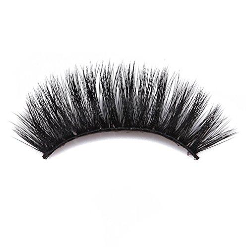 SUNSKYOO 3D Kunstfell Nerz gefälschte Wimpern natürliche Lange bilden chaotisch Flirty gefälschte Wimpern lockige leichte falsche Wimpern für Frauen, schwarz (# 66)
