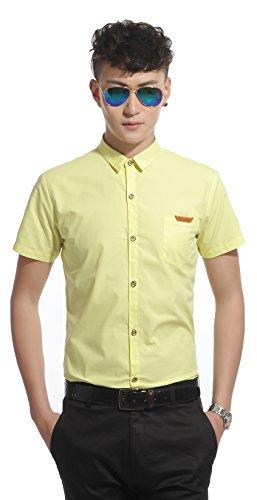 Starepe - Chemise habillée - Homme Jaune - #0155_Yellow