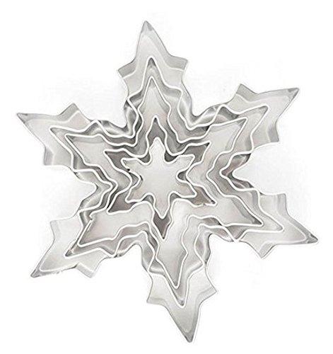 Cookie Cutter Schneeflocke, Blechplatte, Set von 5 -