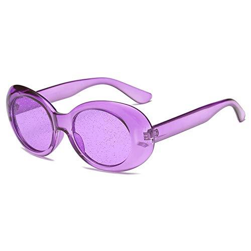 DWSYDA Glitter übergroße Sonnenbrille Frauen Frame Brille Oval Sonnenbrille,3