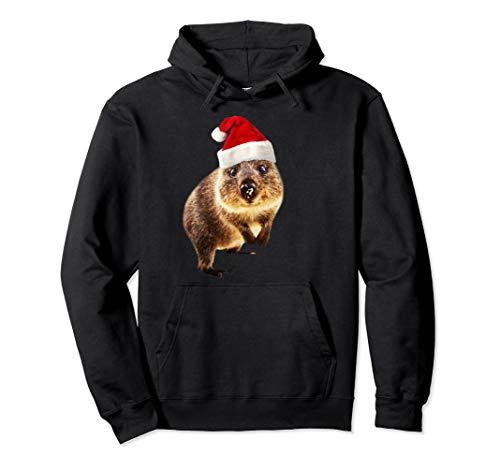 Quokka Weihnachtsmannmütze Geschenk für Quokkas Liebhaber Pullover Hoodie