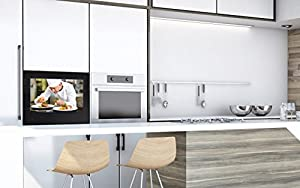 21.5'' Waterproof Black Frame built-in Kitchen TV with vibrant and invisible speakers and with free Kessebohmer FreeFlap Forte Lifter - WM-LBFKTV221HEVC