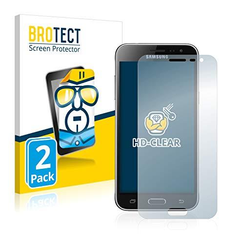BROTECT Schutzfolie kompatibel mit Samsung Galaxy J3 / J3 Duos (2016) [2er Pack] - klarer Bildschirmschutz