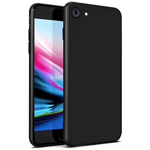 Ylife Hülle Kompatibel iPhone 8, Hülle Kompatibel iPhone 7, Ultra Dünn Schwarz Matt Weiche TPU Silikon Handyhülle, Anti-Fingerabdruck, Anti-Kratz Schutzhülle Case Cover