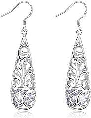 Swarovski Elements 925 Sterling Silver Earrings for Females Women Ladies Girl friend Gift JRosee Jewelry JR493