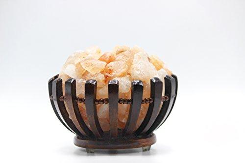 Con lampada magica salt ® himalayano sale in una ciotola rose wood basket , di alta qualità pezzi con 1 pezzi di forma di cuore incluso