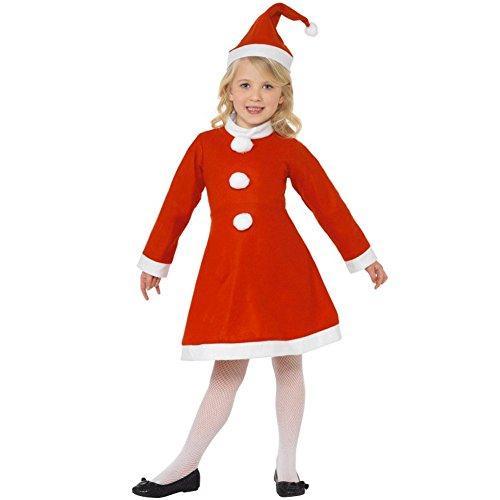 Vestito Natalizio per Bambine 9-11 anni Costume Vestito Babbo Natale Color Rosso