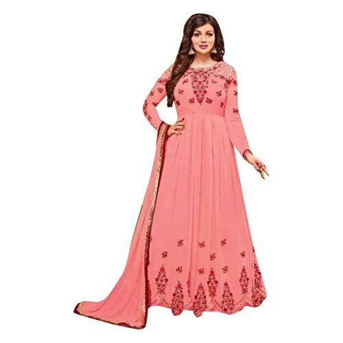 8091 Anarkali Churidar formelle Georgette Salwar Kameez Semi Stitched Indian Women Suit Muslim Georgette Churidar