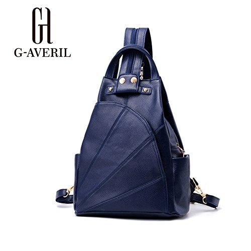 G-AVERIL GA1159-B, Borsa a mano uomo Nero Black Blue
