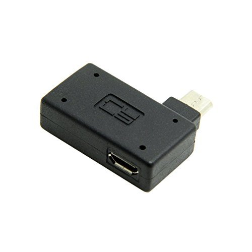 nicebuty CY 90Degree en ángulo Recto Micro USB 2,0OTG Adaptador de Host con alimentación USB para Galaxy S3S4S5Note2Note3teléfono Celular & Tableta