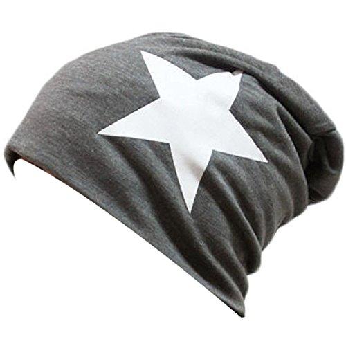 THENICE neutro stella Cappello Beanie Cuffia Berretto Cap (grigio scuro)