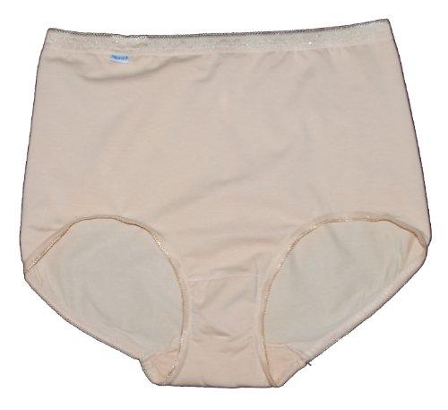 3 Damen Weiche Baumwoll-Slips mit Lycra. Schwarz oder Skintone. Gr. 38-40 40-42 42-44 46-48 50-52, 28-30 Beige - Hautfarben