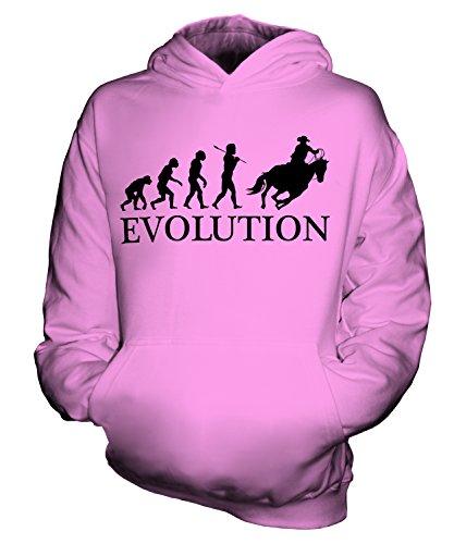 Cowboy-stiefel Rosa Mädchen Für (CandyMix Cowboy Evolution Des Menschen Unisex Kinder Jungen/Mädchen Kapuzenpullover, Größe 9-11 Jahre, Farbe Rosa)