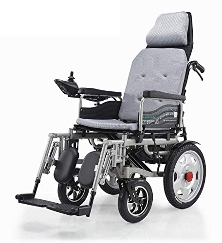 Silla de ruedas eléctrica, Plegable Ligera Scooter médico portátil, soporta 265 LB,...