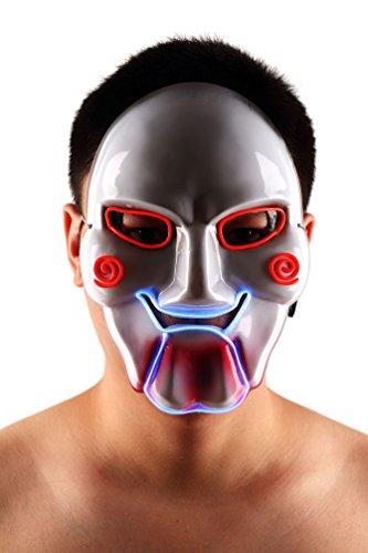 Brinny EL Wire Drahtmaske Leuchten Maske LED Leucht Leuchtmaske Make Up Partymaske mit Batterie Box Kostüme Mask Weihnachten Tanzen Party Nacht Pub Bar Klub 08