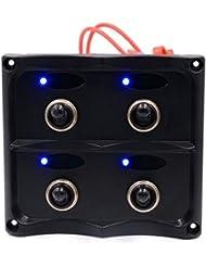 Interruptor, Hansee 4LED impermeable coche barco Marine LED interruptor Panel disyuntores