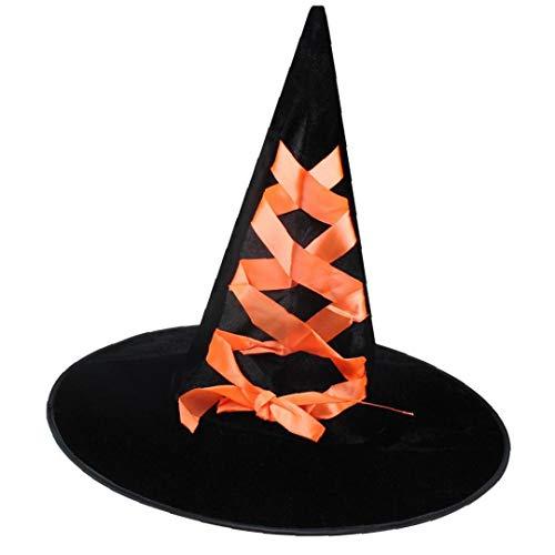Kostüm Orange Genie - Aisoway Halloween Flanell Dekorative Hexe Kreative Cosplay Hexe Hüte Für Partei Festliche Maskerade Halloween Hexenhut Orange