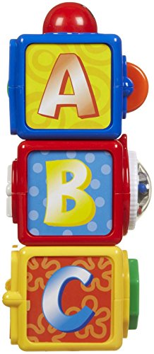 Image of Fisher Price Toy - Brilliant Basics - Stacking Action Blocks - Enrich Baby Development
