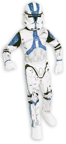 Star Wars Clone Kostüm - Star Wars Clone Trooper Kostüm Jumpsuit & Maske Da