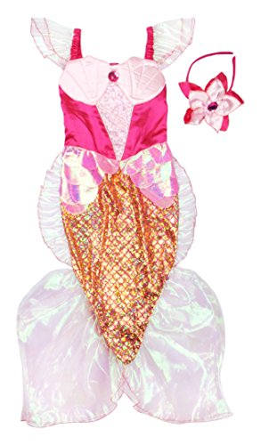 Creative Bildung Great Pretenders Pink Mermaid Kleid und Haarband, Pink, Gr. 5–6