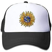 8239267b71f5d Gorras de béisbol Hat Trucker Cap Mesh Baseball Cap Sunflower Earth  Adjustable Snapback Hats for