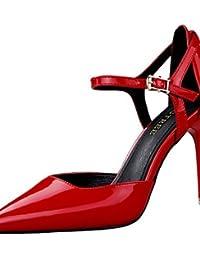 GGX/ Zapatos de mujer-Tacón Robusto-Tacones-Tacones-Boda-Sintético-Negro / Rojo / Gris , gray-us8 / eu39 / uk6 / cn39 , gray-us8 / eu39 / uk6 / cn39