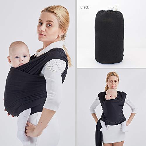 b4cabb40b0 WKD Online - Marsupio per neonati e bambini, in morbido cotone  elasticizzato per tenere il