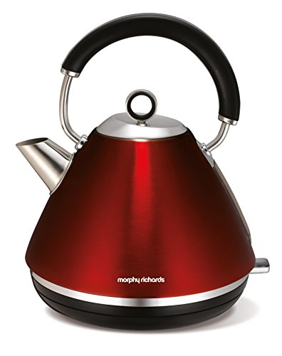 Morphy Richards 102004EE Accents Wasserkocher Pryramide rot